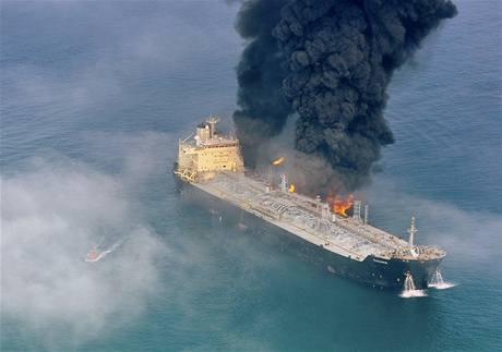 Tanker směřoval z Íránu do Spojených Arabských Emirátů.