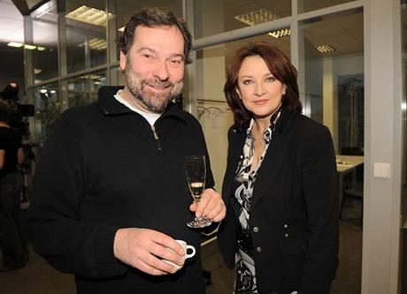 Radek John a Zlata Adamovská (4. února 2009)