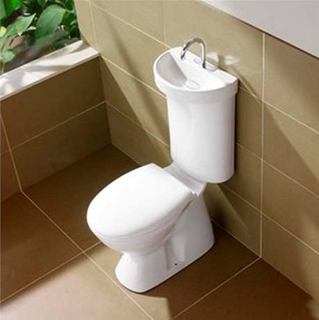 Toaleta spojená s umyvadlem