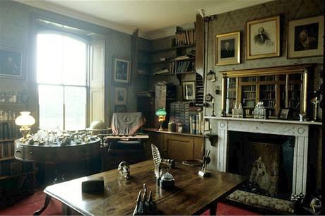 Pracovna Charlese Darwina v anglickém Kentu