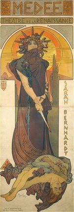 Alfons Mucha - Medée (1898)