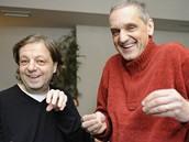 Milan Šteindler (vlevo) a David Vávra (vpravo) představili dvanáct nových dílů Alles Gute