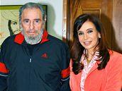 Fidel Castro s argentinskou prezidentkou Cristinou Fernandez