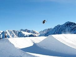 Největší snowpark v Itálii na Kronplatzu v Jižním Tyrolsku