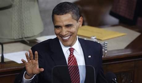 Barack Obama přednesl svůj první projev o stavu unie. (24. února 2009)