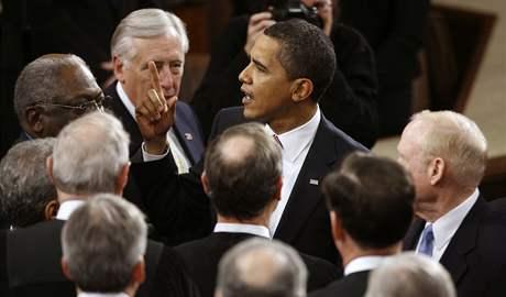 Barack Obama přednesl svůj první projev o stavu unie (24. února 2009)