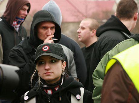 Pochod DS v Postoloprtech (21.2.2009)