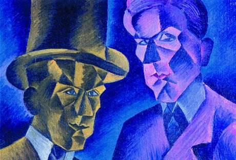Z výstavy Sváry zření - Bohumil Kubišta: Dvojník (1911)