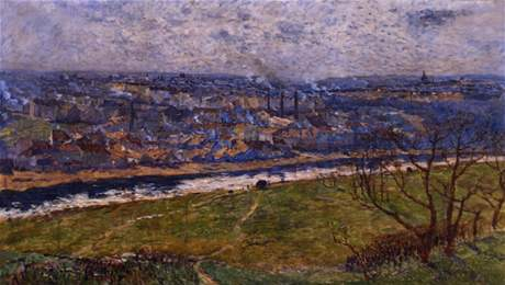 Z výstavy Sváry zření - Antonín Slavíček: Praha od Ládví (1908)