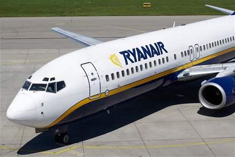 Letadlo společnosti Ryanair.