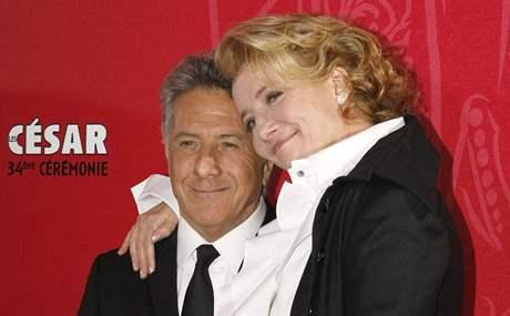 Dustin Hoffman a Emma Thompsonová na předávání Césarů, 27. 2. 2009