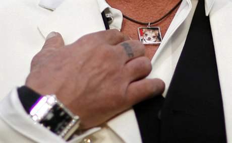 Oscar 2009 - Mickey Rourje a památka na jeho čivavu