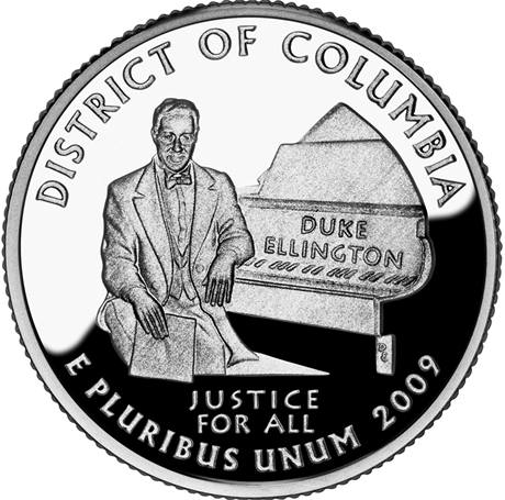 Čtvrtdolar s portrétem Dukea Ellingtona