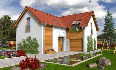 Vizualizace typového  domu, který  Moniku s Radkem zaujal v katalogu