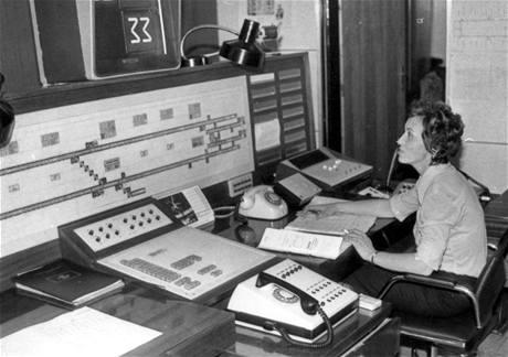 Provizorní dispečink ve stanici I. P.Pavlova