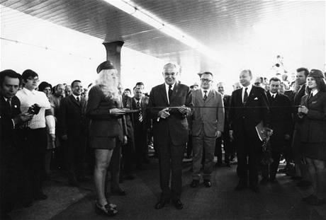 Zahájení provozu 9. května 1974