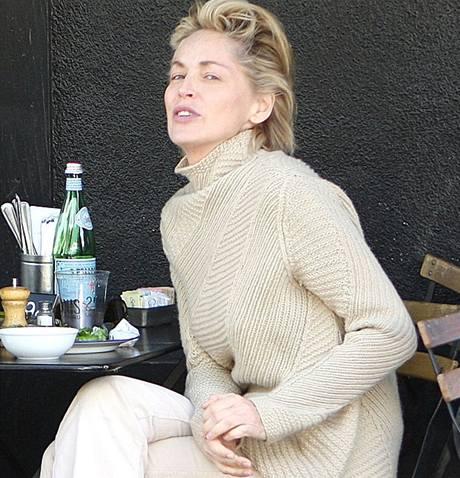 Sharon Stone bez make-upu