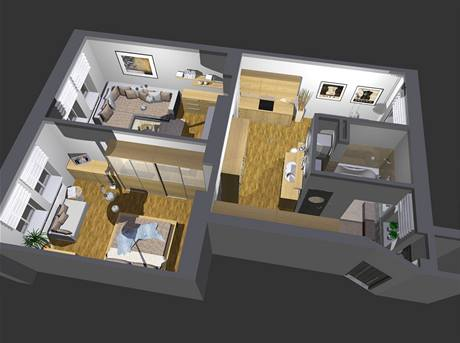 Kompletní proměna bytu 2+1 na Vinohradech