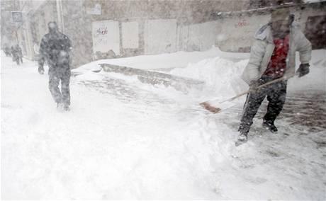 Sněhová kalamita v bulharské Sofii