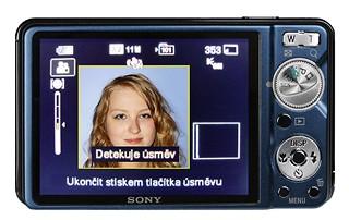 Sony W290 - zad + úsměv