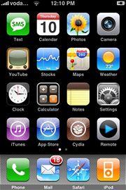 Springboard odemčeného iPhonu