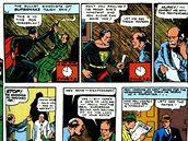 Z prvn�ho vyd�n� komiksu o Supermanovi (Action Comics #1) z roku 1938