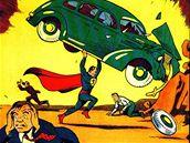 Obálka prvního vydání komiksu o Supermanovi (Action Comics #1) z roku 1938