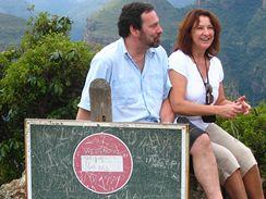 Radek John a Zlata Adamovská na dovolené v africké divočině