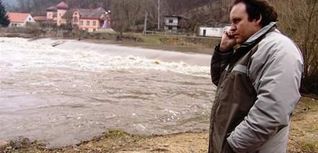 Velká voda v Podhradí nad Dyjí - starosta Petr Čálek