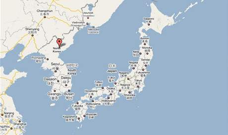 Mapa - Severní a Jižní Korea