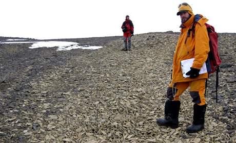 Čeští vědci na Antarktidě - Mapovací práce spolu sargentinskými kolegy – Zaznamenávání hranic křídových souvrství
