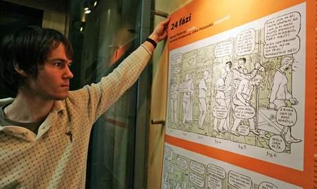 Výstava komiksů o cizincích v Domě Pánů z Lipé