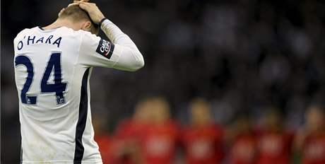 Útočník O´Hara z Tottenhamu smutní: proti Manchesteru neproměnil penaltu