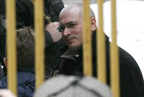 Michail Chodorkovskij u moskevského soudu (3. března 2009)