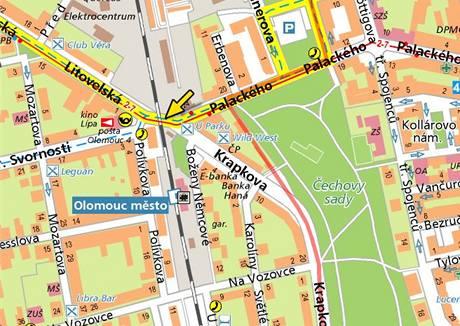 Palackého ulice v Olomouci.