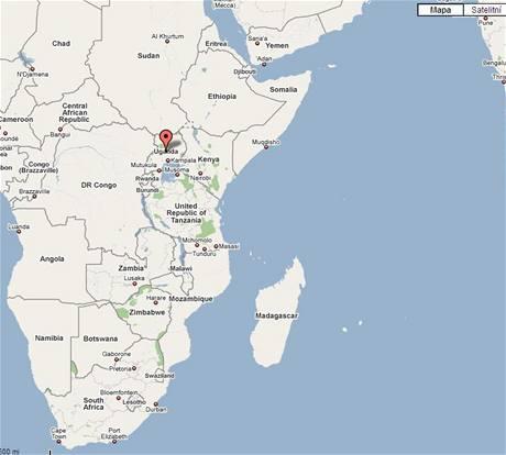 Mapa - Uganda