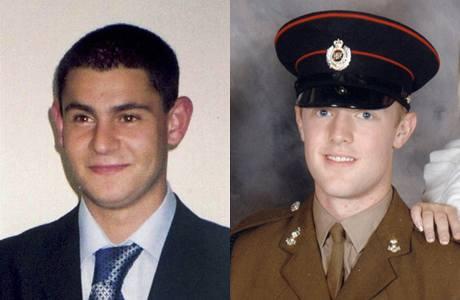Britští vojáci zavraždění v Severním Irsku Patrick Azimka a Mark Quinsey.