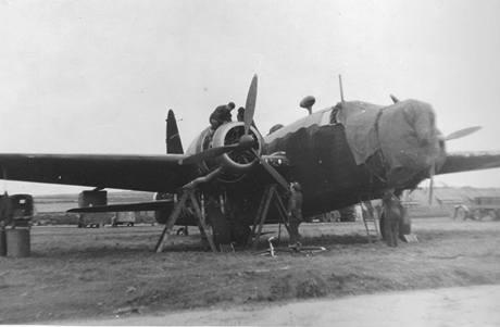 Wellington Mk.IC 311. perutě. Na tomto typu letounu uskutečnil Petr Uruba šest operací.