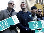 Irští U2 v New Yorku. Starosta Bloomberg po nich dočasně pojmenoval ulici na Manhattanu