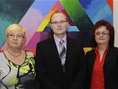 Noví poslanci Zuzana Domesová, Pavel Němec a Ludmila Navrátilová složili na mimořádné schůzi Poslanecké sněmovny slavnostní slib (3. března 2009)