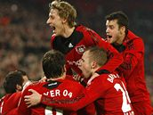 Leverkusen: radost po vítězství nad Bayernem