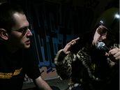 Peťo Tázok (vpravo) a jeho spolupracovník Karaoke Tundra