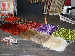 Koberce s dlouhým vlasem, kusové i na míru (Dorian dekor).