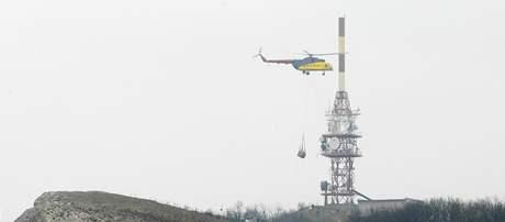 Vrtulník na Děvíně