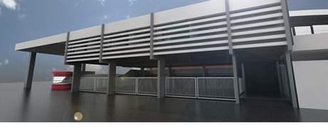 Vizualizace opravené haly Rondo