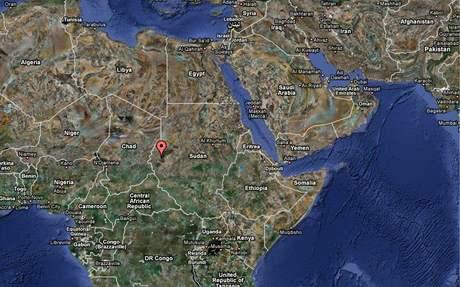 Mapa - Súdán, Dárfúr