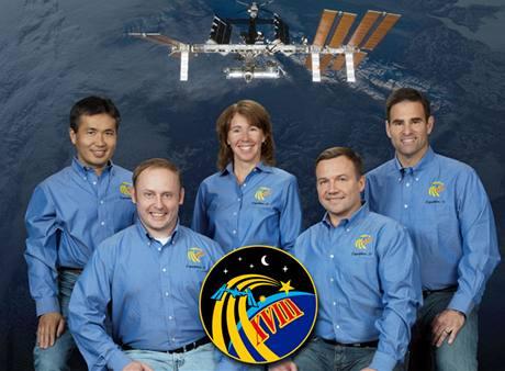 Předpokládaná posádka 18. expedice na Mezinárodní vesmírnou stanici ISS - (zleva) Koiči Wakata, Michael Fincke, Sandra Magnusová, Jurij Lončakov, Greg Chamitoff