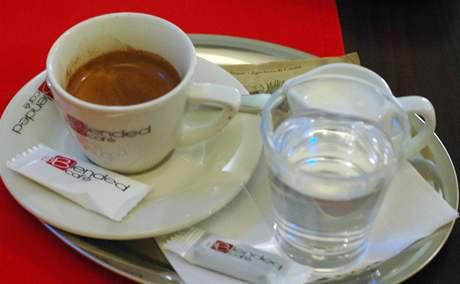 kavárna Bended, espresso