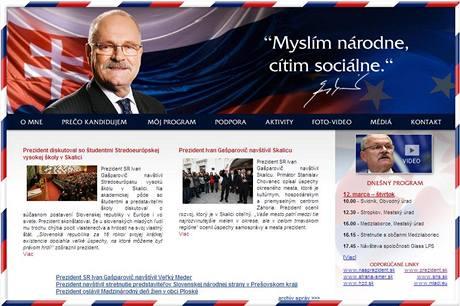 Internetové stránky Ivana Gašparoviče