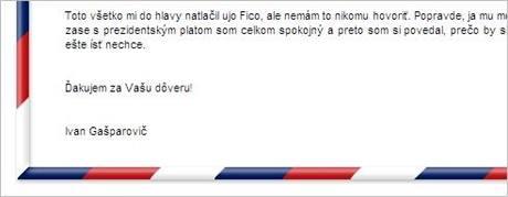 Útok hackera na stránky Ivana Gašparoviče.